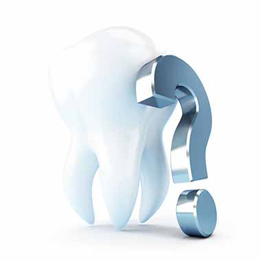 dental treatment under a question mark