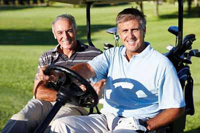 dentists-in-bee-cave-tx-smiling-men-golfing